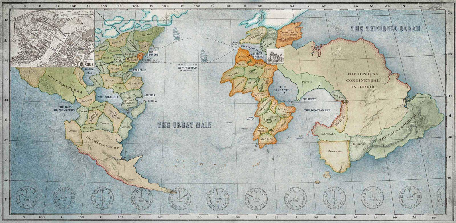 Карнивал Роу - Карта