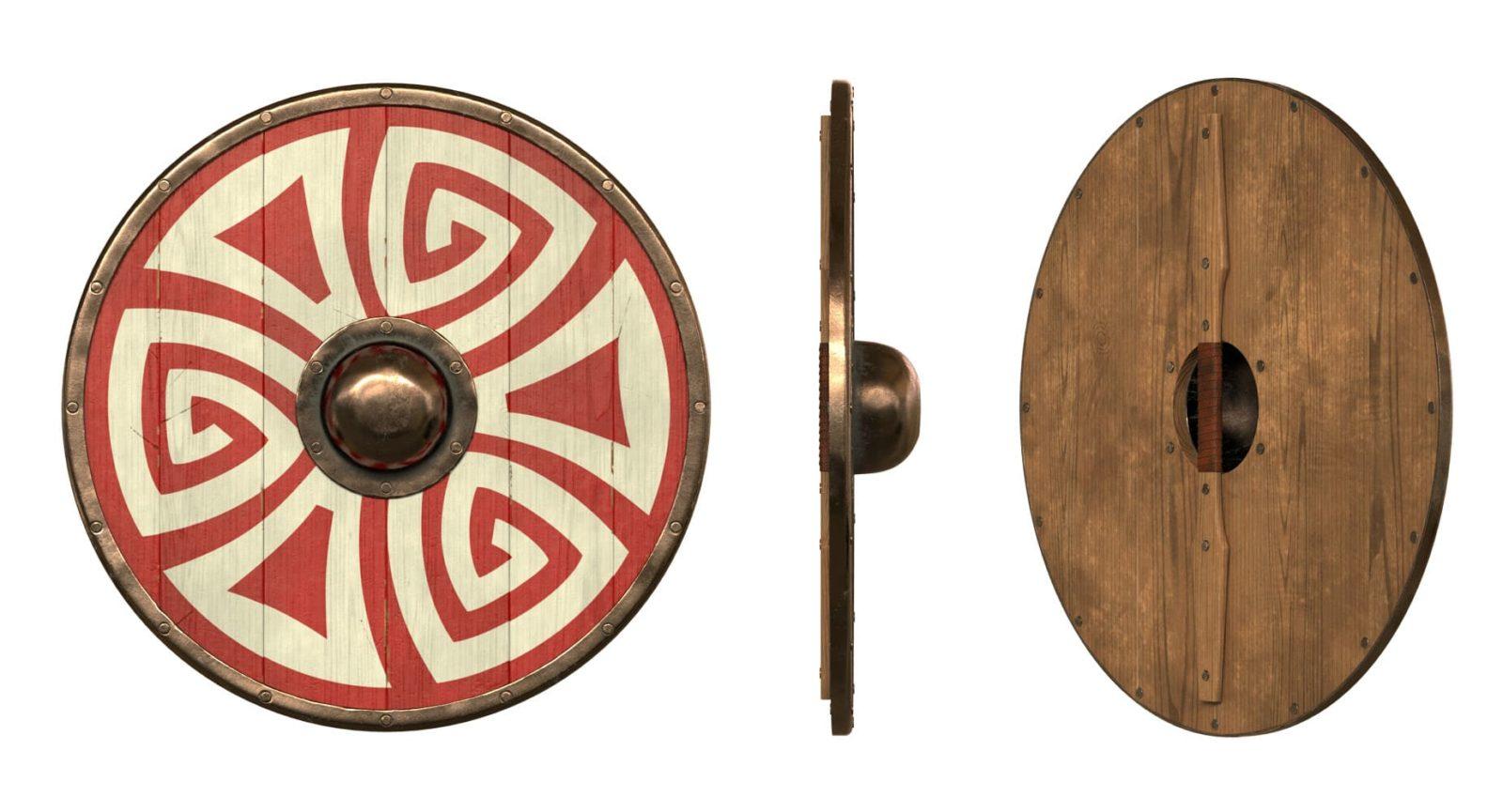 Щит викинга в средние века
