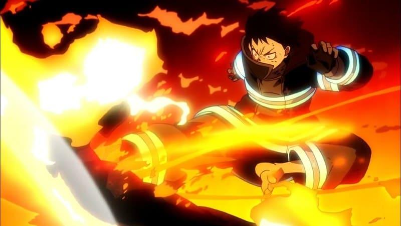 Синра Кусакабэ из аниме Пламенная бригада пожарных