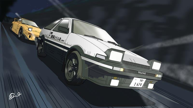 Лучшие аниме про гонки на машинах - Инициал Ди (1998-2014)
