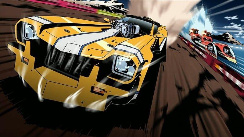 Лучшие аниме про гонки на машинах - Красная черта (2009)